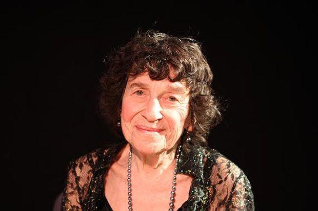 Older woman smiling to camera