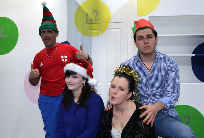 Darren Haywood, Hannah Fretwell, Hayley Grainger and Liam Alexandra in Lucky Sods