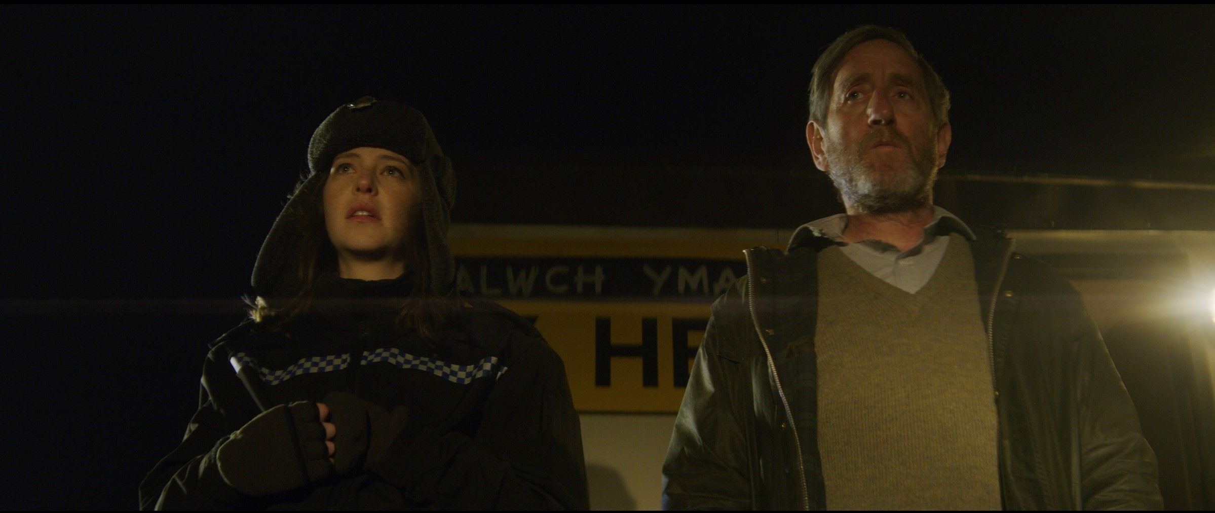 Michael Smiley and Annes Elwy in The Toll (Signature Entertainment)