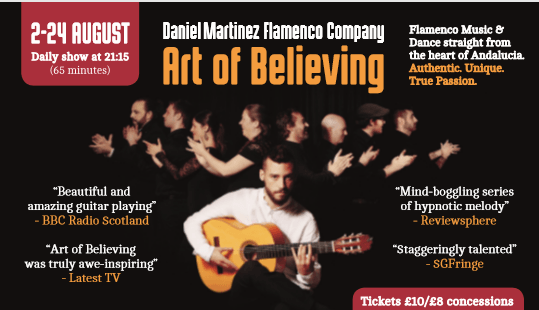 Photo of FIFTY WORD FRINGE PITCH…Art of Believing – Flamenco
