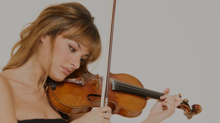 nicola benedetti with violin